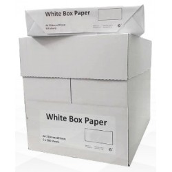 CAIXA PAPEL DE COPIA A4/75grs 500 Fls WHITE BOX